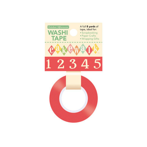 October Afternoon - Cakewalk Collection - Washi Tape - Numbers