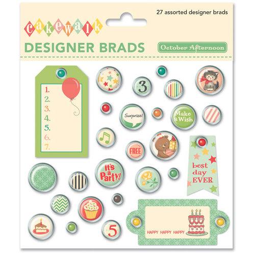 October Afternoon - Cakewalk Collection - Designer Brads