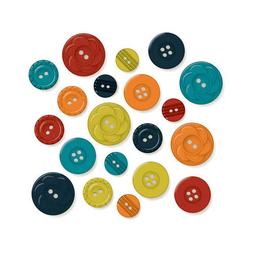 October Afternoon - Witch Hazel Collection - Halloween - Buttons