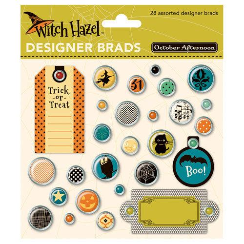 October Afternoon - Witch Hazel Collection - Halloween - Designer Brads