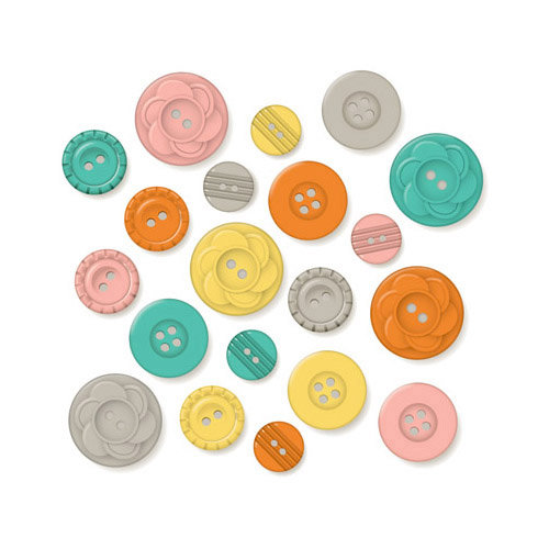 October Afternoon - Midway Collection - Buttons