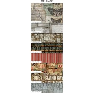 Coats - Tim Holtz - Eclectic Elements - 9 x 21 Inch Fat Eighth - 8 Pieces - Melange