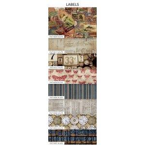 Coats - Tim Holtz - Eclectic Elements - 2.5 x 44 Inch Design Roll - 8 Pieces - Labels