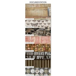 Coats - Tim Holtz - Eclectic Elements - 12 x 12 Fabric Craft Pack - 8 Pieces - Documentation