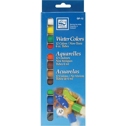 Loew-Cornell - Watercolor Paints - 12 Pack