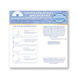 Heartland - 12x12 Page Protectors - White - For use with the NCL Albums