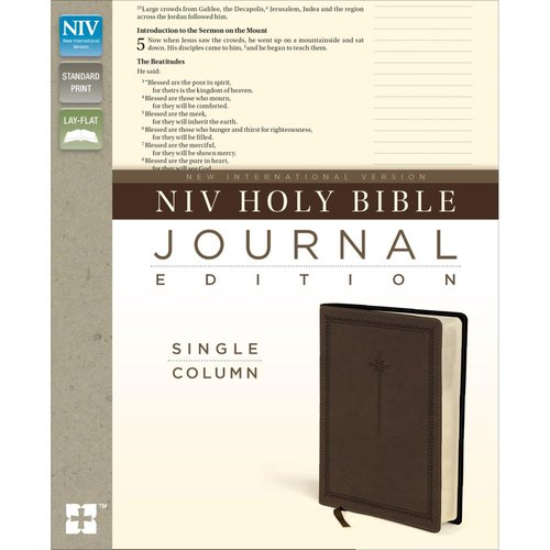 Harpercollins - NIV Holy Bible - Journaling Edition - Brown