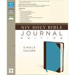 Harpercollins - NIV Holy Bible - Journaling Edition - Chocolate and Turquoise