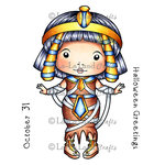 La-La Land - Halloween - Cling Mounted Rubber Stamp Set - Egyptian Mummy Marci