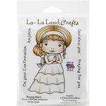 La-La Land - Cling Mounted Rubber Stamp Set - Praying Marci