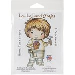 La-La Land - Cling Mounted Rubber Stamp Set - Building Birdhouse Luka