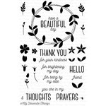 My Favorite Things - Lisa Johnson Designs - Clear Acrylic Stamps - Spring Wreath