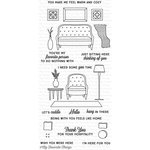 My Favorite Things - Lisa Johnson Designs - Clear Acrylic Stamps - Make Yourself At Home
