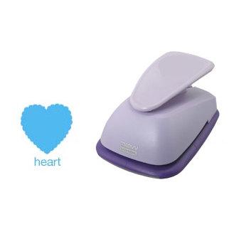Marvy Uchida - Clever Lever Craft Punch - Giga - Scalloped Heart