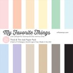 My Favorite Things - 6 x 6 Paper Pad - Thick and Thin