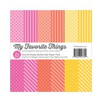 My Favorite Things - 6 x 6 Paper Pad - Dots and Stripes Sorbet