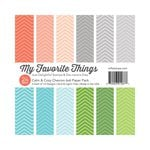 My Favorite Things - 6 x 6 Paper Pad - Calm and Cozy - Chevron