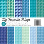 My Favorite Things - 6 x 6 Paper Pad - True Blue - Houndstooth