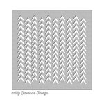 My Favorite Things - MIX-ables Stencil - Wonky Chevron