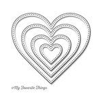 My Favorite Things - Die-Namics - STAX Dies - Stitched Heart