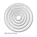 My Favorite Things - Die-Namics - STAX Dies - Wonky Stitched Circle