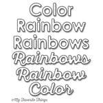 My Favorite Things - Die-Namics - Dies -Color The Rainbow