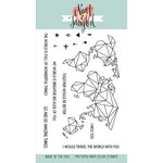 Neat and Tangled - Clear Acrylic Stamps - Origami Map
