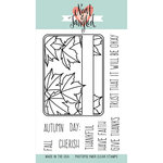 Neat and Tangled - Clear Acrylic Stamps - Maple Leaves Journaling Card