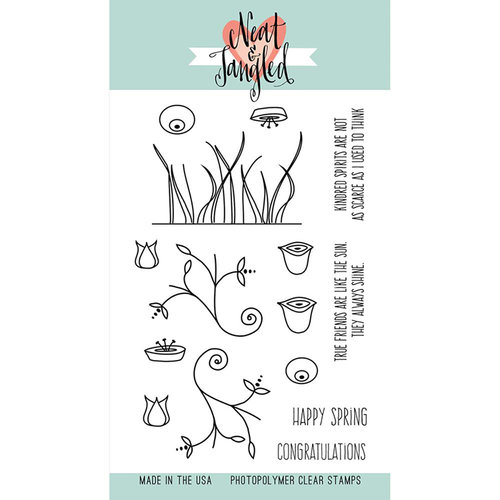 Neat and Tangled - Clear Acrylic Stamps - Scandinavian Flowers