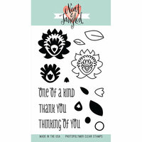 Neat and Tangled - Clear Acrylic Stamps - Paper Cut Flowers