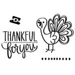 Neat and Tangled - Clear Acrylic Stamps - Thankful Turkey