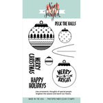 Neat and Tangled - Christmas - Clear Acrylic Stamps - Happy Ornaments