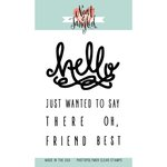 Neat and Tangled - Clear Acrylic Stamps - Hello There