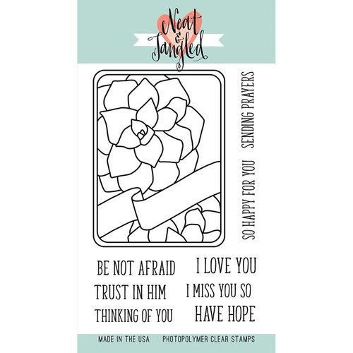 Neat and Tangled - Clear Acrylic Stamps - Succulent Journaling Card