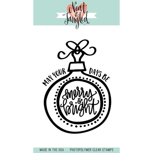 Neat and Tangled - Christmas - Clear Acrylic Stamps - Merry and Bright Ornaments