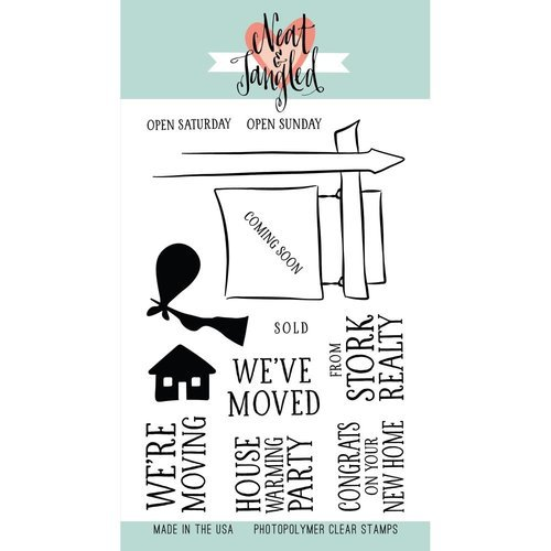 Neat and Tangled - Clear Acrylic Stamps - Welcome Home