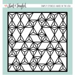 Neat and Tangled - 6 x 6 Stencil - Modern Triangle