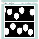 Neat and Tangled - 6 x 6 Stencil - Balloon Duo
