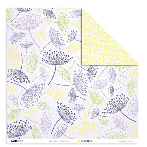 Kaisercraft - Lilac Avenue Collection - 12 x 12 Double Sided Paper - Dandelion, CLEARANCE