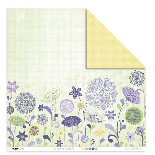 Kaisercraft - Lilac Avenue Collection - 12 x 12 Double Sided Paper - Wisteria, CLEARANCE