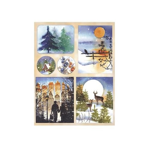 Penny Black - Christmas - Sticker Sheet - Serene Season