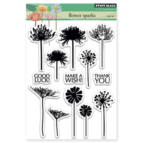 Penny Stock Quotes Real Time: Penny Black Flower Sparks Stamps