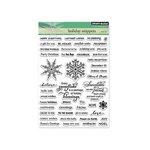 Penny Black - Christmas - Clear Acrylic Stamps - Holiday Snippets