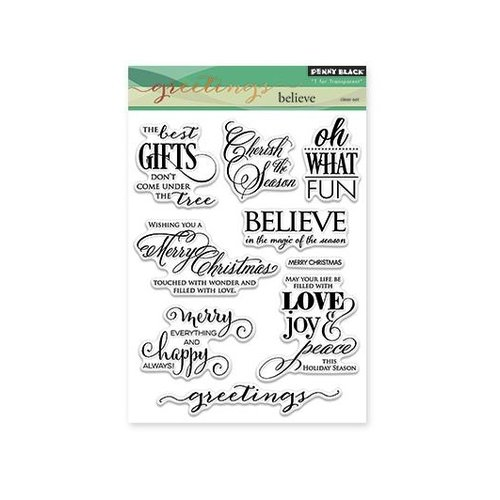 Penny Black - Christmas - Clear Photopolymer Stamps -Believe