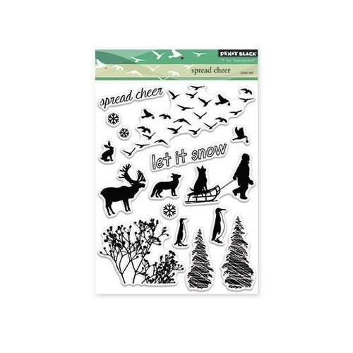 Penny Black - Christmas - Clear Photopolymer Stamps - Spread Cheer