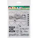 Penny Black - Clear Acrylic Stamps - Happy Hearts