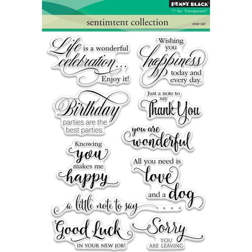 Penny Black - Clear Photopolymer Stamps - Sentiment Collection
