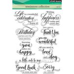 Penny Black - Clear Acrylic Stamps - Sentiment Collection