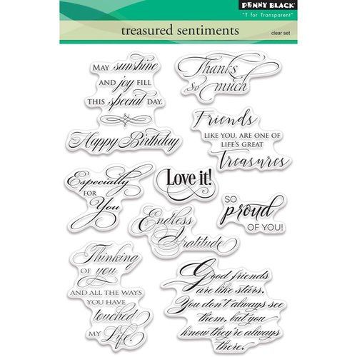 Penny Black - Clear Photopolymer Stamps - Treasured Sentiments