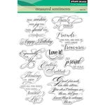 Penny Black - Clear Acrylic Stamps - Treasured Sentiments